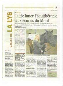 Lucie lance l'équithérapie aux Écuries du Mont